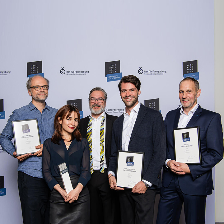 Iconic Awards: Innovative Architecture für CSMM und die Projekte BSH CO und Virtual Identity